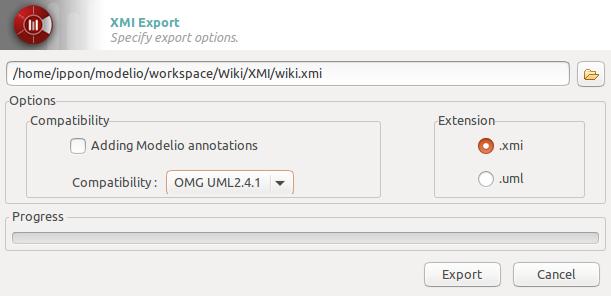 Export to XMI Modelio